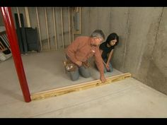 How to Frame Walls for a Basement Room - This Old House. 69915271 Ways To Finish A Basement Ceiling. Basement Decorating Ideas And Projects Basement Remodel Diy, Basement Plans, Basement Stairs, Basement Flooring, Basement Renovations, Home Remodeling, Basement Ideas, Basement Decorating, Basement Repair