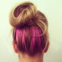 splat pink fetish - hot pink streaks!