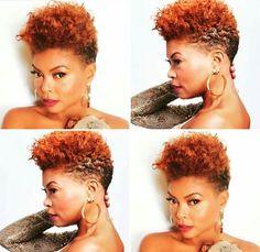 Beautiful Taraji. Natural Hair. Slay, Honey!