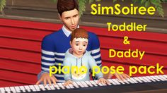 TODDLER & DADDY PIANO POSE PACK
