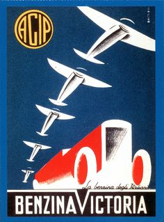 p agip - campagna pubblicitaria - 1929