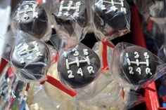 Gear Shift Cake Pops: Race car party The Party Muse ™so funny! Also good for birthday party! Nascar Party, Race Party, Hot Wheels Party, Hot Wheels Birthday, Race Car Birthday, 3rd Birthday, Birthday Ideas, Hot Wheels Cake, Car Themed Parties