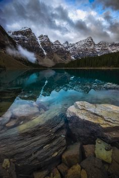 Something a little different from Moraine Lake Banff National Park (OC)[8001200] #reddit