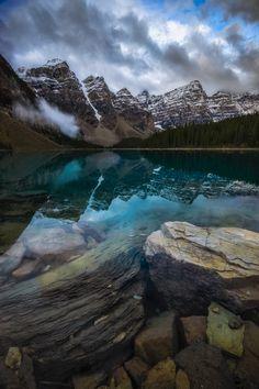 Something a little different from Moraine Lake Banff National Park (OC)[8001200] #reddit