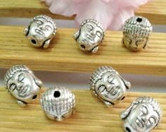 5pcs Antique silver buddha head spacer $2. Material antique silver plated. Wa +628995336889, line : k.w.b