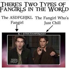 """i am dylan. dylan is me<<<I'm the only 'Fangirl who's just chill"""" in my friend group."""