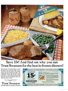 Love the salt and pepper shakers. Vintage Advertisements, Vintage Ads, Vintage Food, Vintage Stuff, Vintage Cooking, Vintage Scrapbook, Oldies But Goodies, Old Ads, Vintage Recipes