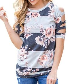 Floral Cutout Shirt