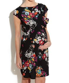 Ruffle front maternity dress in floral print, New Look, €33.99