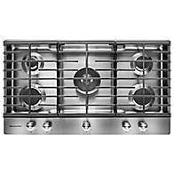 Learn about features and specifications for the 36'' 5-Burner Gas Cooktop with Griddle (KCGS956ESS)