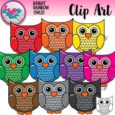 These happy little owls in all the colors of the rainbow will be perfect for all your teaching creations and classroom decor! Great for matching activities, counting activities, classroom posters, color recognition, and anything else you can think of! The set includes ten different colored owls and one black and white version. All images are 300 DPI PNG files with transparent backgrounds. Personal and commercial use acceptable. Enjoy!!
