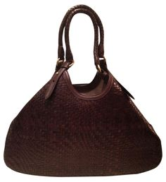 """Cole Haan New! Genevieve 19"""" Large Woven Leather Weave Triangle Hobo Handbag Chocolate Brown Tote Bag. Get one of the hottest styles of the season! The Cole Haan New! Genevieve 19"""" Large Woven Leather Weave Triangle Hobo Handbag Chocolate Brown Tote Bag is a top 10 member favorite on Tradesy. Save on yours before they're sold out! ABSOLUTELY GORGEOUS!!! STUNNING CHOCOLATE BROWN WOVEN BAG!!! NEW WITHOUT TAGS!!! SALE!!! WOW!!!"""