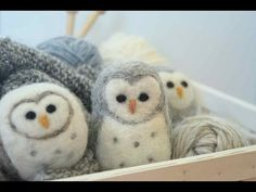 Make 6 cute animals out of felt yourself - DIY instructions- 6 süße Tiere aus Filz selber machen – DIY-Anleitungen You would like to felt, but maybe you are still too … - Needle Felted Owl, Felted Wool, Christmas Needle Felting, Needle Felting Tutorials, Beginner Felting, Felt Owls, Felt Birds, Art Textile, Sewing Projects For Beginners