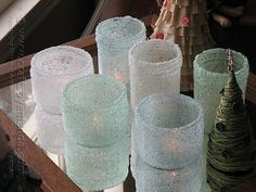 Epsom salt candle holders, make with baby food jars for baby shower. Baby Food Jar Crafts, Baby Food Jars, Mason Jar Crafts, Mason Jars, Baby Jars, Canning Jars, Holiday Crafts, Christmas Crafts, Xmas