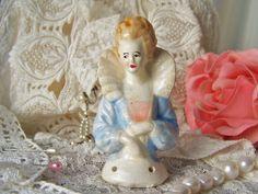 Antique Half Doll Pin Cushion Doll Boudoir Doll by cynthiasattic