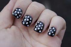 monochrome polka-dots