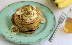 Say Yes to Brunch: Banana Pancakes with Honey Lemon Syrup