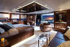 luxury yachts a floating palace is all about superyacht purchase, construction, chartering and features the rich will be able to buy Yacht Interior, New Interior Design, Best Interior, Luxury Jets, Luxury Yachts, Luxury Estate, Luxury Lifestyle, Floating House, Luxury Living