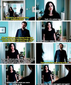 """It doesn't matter what you were trying to do. You raped me"" - #JessicaJones and Kilgrave"
