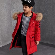 11016 - Manteaux fashion chaud solide pour garçons