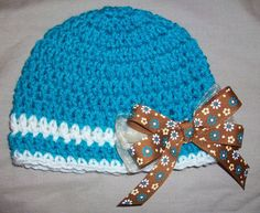 Baby Girl Crochet Hat in Peacock with by AngieHallHaviland on Etsy, $13.00