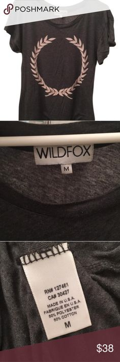 Wildfox Palm Logo Tee Wildfox Palm Logo Tee. Loose fit, size M. Style has slight flare out at bottom. Super comfy and  has zero signs of wear. Wildfox Tops Tees - Short Sleeve