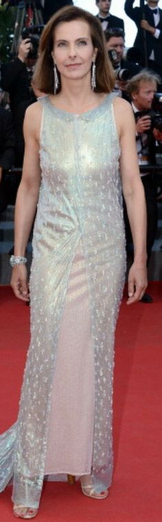 """Carole Bouquet attends the Closing Ceremony and """"A Fistful of Dollars"""" Screening during the Annual Cannes Film Festival on May 2014 in Cannes, France. Cannes Film Festival 2014, Chanel Couture, Chanel Spring, Prom Dresses, Formal Dresses, Red Carpet, Bouquet, Street Style, How To Wear"""