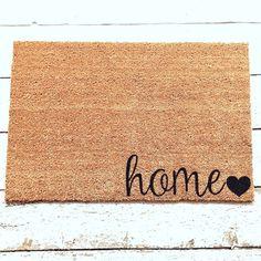 Home Welcome Mat / Doormat Door Mat Gift // WM13 by LoRustique