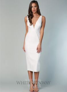 3ef5211f1d912 16 Best White Cocktail Dress images | White cocktail dress, Curve ...