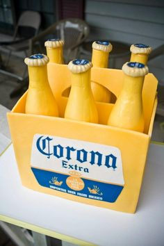 Not a pretty cake at all. But I do love Corona. It should however have some slices of lime made out of cake to go with it.