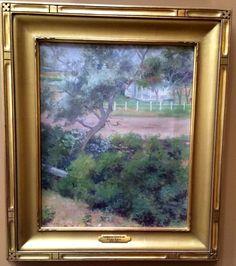 Emma Eilers. 1870-1951. Oil on canvas. Farmhouse on Littleworth Lane.