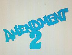 Amendment 2 Die Cut Vinyl Decal by DaizysDezigns on Etsy