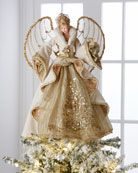 Shop Gilded Angel Heirloom Statue from Christopher Radko at Horchow, where you'll find new lower shipping on hundreds of home furnishings and gifts. Christmas Makes, Christmas Crafts, Christmas Decorations, Christmas Ornaments, Holiday Decor, Angel Christmas Tree Topper, Christmas Angels, Natal Design, Statue Ange