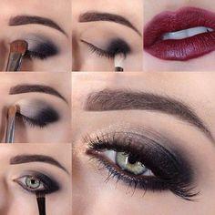 esto es un maquillaje de ojos paso a paso