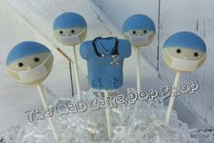 Presenting 1 dozen (12) of our adorable Doctor/Surgeon cake pops. If you want the scrubs and hearts the price is $48 a dozen, and there is