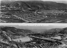 Panoramic Views, Mason City from NW; Work Site from NE, 1936 Grand Coulee Dam, Mason City, Work Site, Movie Posters, Film Poster, Billboard, Film Posters