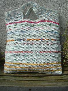 Crocheted Plastic Bag.