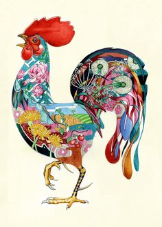 Daniel Mackie   Art Deco and Ukiyo e Influenced Animal Illustration inspiration