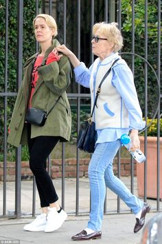 On the hunt: Sarah Paulson and Holland Taylor stopped in at a West Hollywood, California, farmers market on Sunday aftrenoon