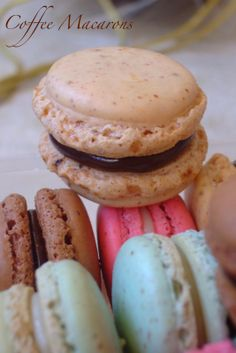 Kachuss Delights: Coffee Macarons with Chocolate Ganache Filling
