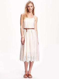 Eyelet Slip Dress for Women Product Image