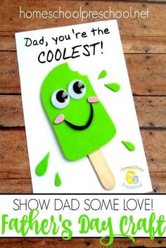Looking for a fun Father's Day craft your kids can make? I've got exactly what you're looking for right here! mothers day diy ideas, mothers day gifts from kids crafts, mother daughter gifts Daycare Crafts, Sunday School Crafts, Classroom Crafts, Toddler Crafts, Preschool Crafts, Diy Father's Day Crafts, Father's Day Diy, Summer Crafts, Holiday Crafts