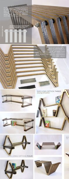 Bench and shelving by Natalie Murrow