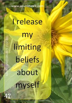 """release limiting beliefs  quote = """"The outer conditions of a person's life will always be found to reflect their inner beliefs."""" ~James Allen"""