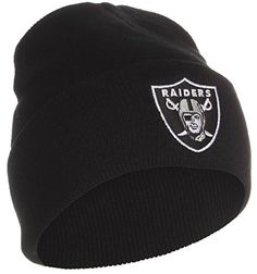 NFL Oakland Raiders Black Cuffed Beanie Hat >>> Check out the image by visiting the link.