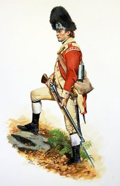 British; 52nd Regiiment of Foot, Grenadier, c.1777 by Don Troiani