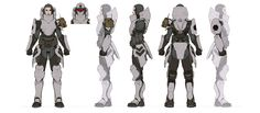 Female Character Concept, Character Model Sheet, Character Modeling, Character Art, Girl Inspiration, Character Design Inspiration, Cyberpunk, Character Turnaround, Ajin Anime