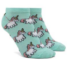 Forever21 Unicorn Print Ankle Socks ($1.90) ❤ liked on Polyvore featuring intimates, hosiery, socks, unicorn socks, ankle socks, tennis socks, short socks and forever 21 socks