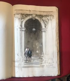Sketch and wash by Joseph Zbukvic