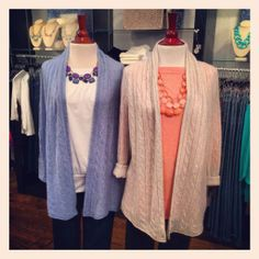 Spring Cashmere has arrived!! Love the long cable sweaters!